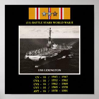 POSTER DE USS LEXINGTON (CV/CVA/CVS/CVT/AVT-16)