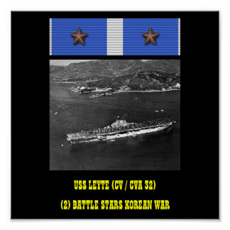 POSTER DE USS LEYTE (CV/CVA 32)
