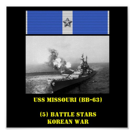 POSTER DE USS MISSOURI (BB-63)