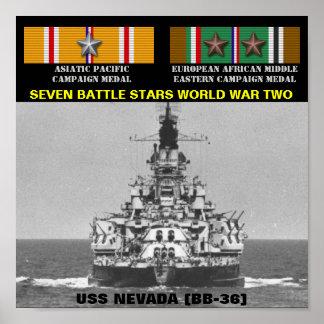POSTER DE USS NEVADA BB-36