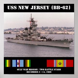 POSTER DE USS NEW-JERSEY BB-62