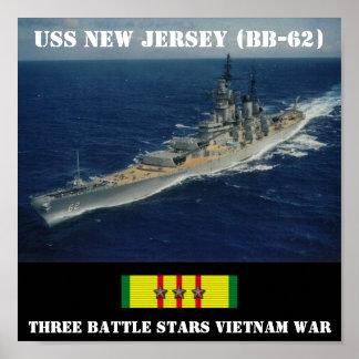 POSTER DE USS NEW-JERSEY (BB-62)