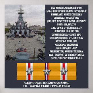 POSTER DE USS NORTH CAROLINA BB-55