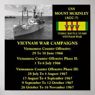 POSTER DE USS O MONTE MCKINLEY AGC-7