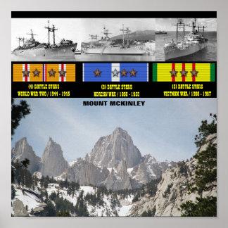POSTER DE USS O MONTE MCKINLEY (AGC-7)