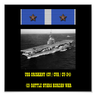 POSTER DE USS ORISKANY CV CVA CV-34