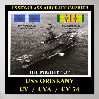 POSTER DE USS ORISKANY (CV/CVA/CV-34)