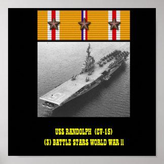POSTER DE USS RANDOLPH (CV-15)