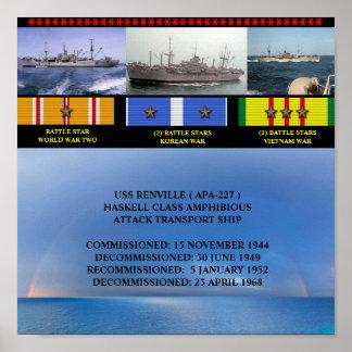POSTER DE USS RENVILLE (APA-227)