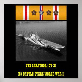 POSTER DE USS SARATOGA (CV-3)