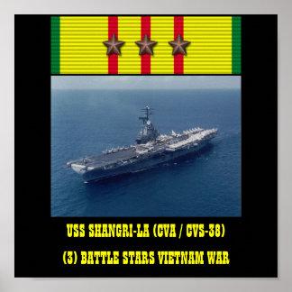 POSTER DE USS SHANGRI-LA (CVA/CVS-38)