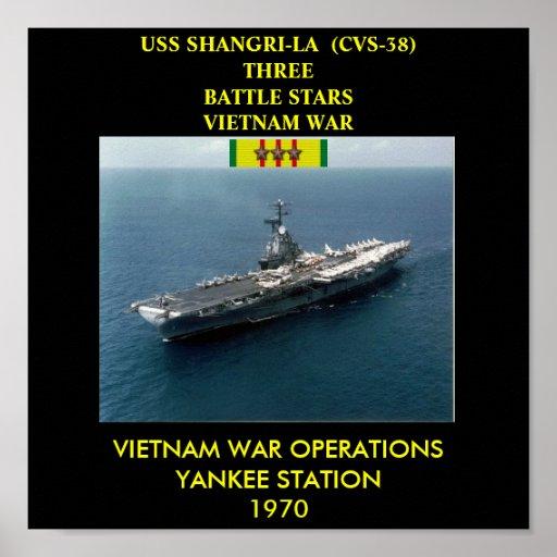 POSTER DE USS SHANGRI-LA (CVS-38)