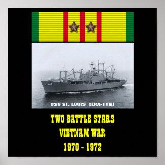 POSTER DE USS ST LOUIS (LKA-116)