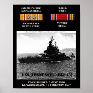 POSTER DE USS TENNESSEE (BB-43)