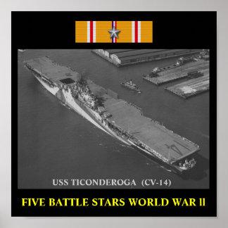 POSTER DE USS TICONDEROGA (CV-14)