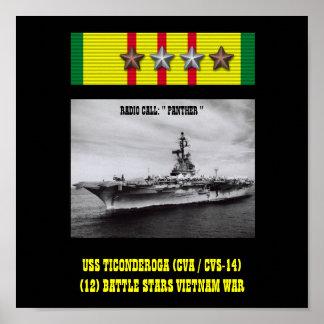 POSTER DE USS TICONDEROGA (CVA/CVS-14   )