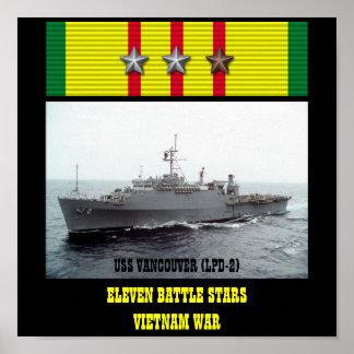 POSTER DE USS VANCÔVER (LPD-2)