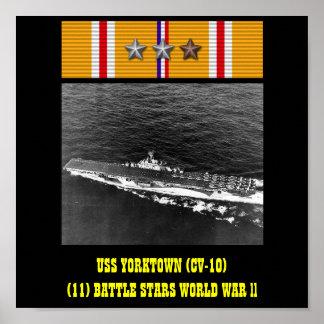 POSTER DE USS YORKTOWN (CV-10)