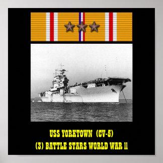 POSTER DE USS YORKTOWN (CV-5)