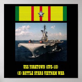 POSTER DE USS YORKTOWN (CVS-10)