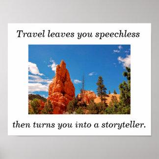 Poster de viagens - arte do poster pôster