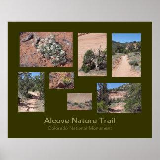 Poster de viagens da fuga de natureza da alcova