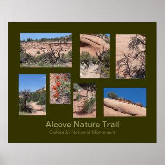 Poster de viagens da fuga de natureza da alcova pôster