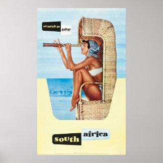 Poster de viagens de África do Sul