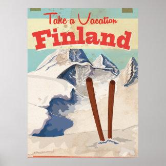 Poster de viagens de Finlandia do vintage