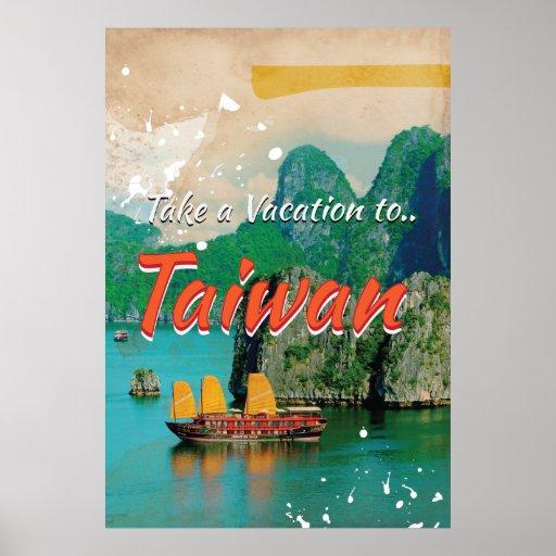 Poster de viagens de Formosa do vintage
