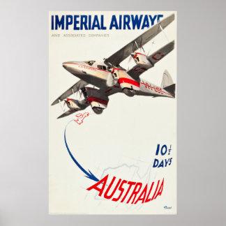 Poster de viagens de Imperial Airways