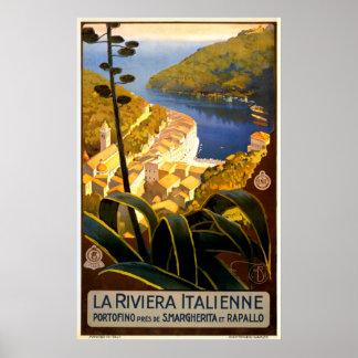 Poster de viagens de Italia do vintage Pôster