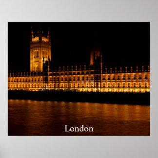 Poster de viagens de Londres - o parlamento Pôster