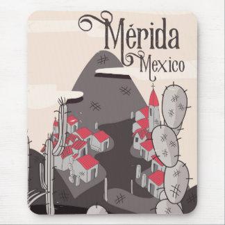 Poster de viagens de Mérida México Mouse Pad