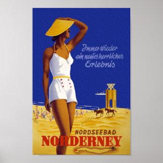 Poster de viagens de Nordseebad Norderney do Pôster
