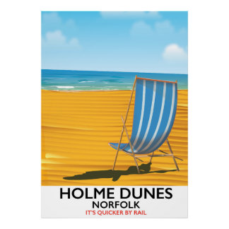Poster de viagens de Norfolk das dunas de Holme
