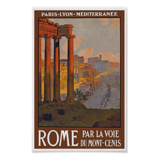 Poster de viagens de Roma do vintage