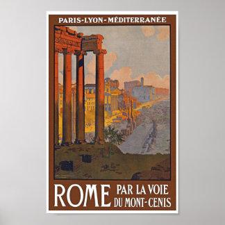 Poster de viagens de Roma do vintage Pôster