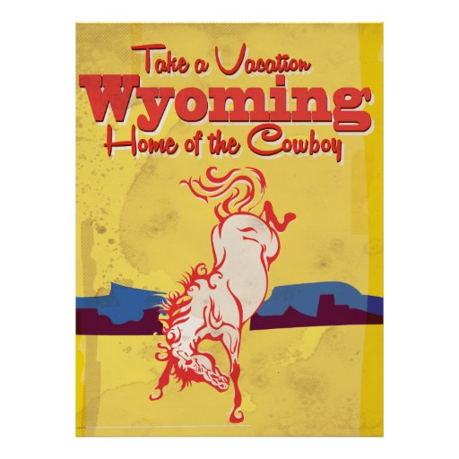 Poster de viagens de Wyoming do vintage