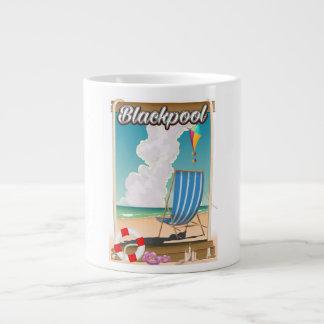 Poster de viagens do beira-mar da praia de caneca de café gigante