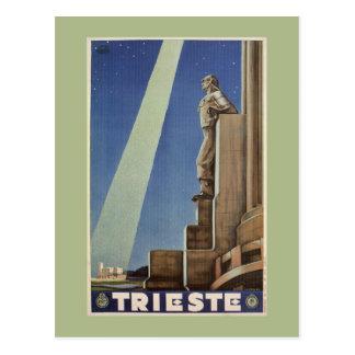 Poster de viagens do italiano de Trieste do art Cartão Postal