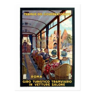 Poster de viagens do italiano do 1920 de Roma do Cartão Postal