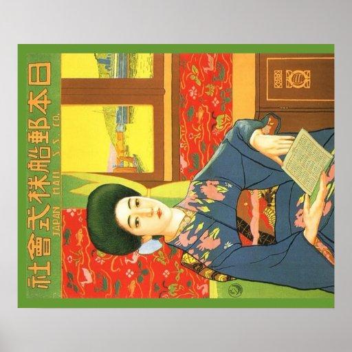 Poster de viagens do japonês do vintage