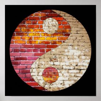 Poster de Yin Yang do tijolo Pôster