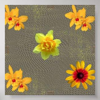 Poster decorativo da flor pôster