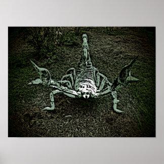 Poster decorativo do escorpião artístico