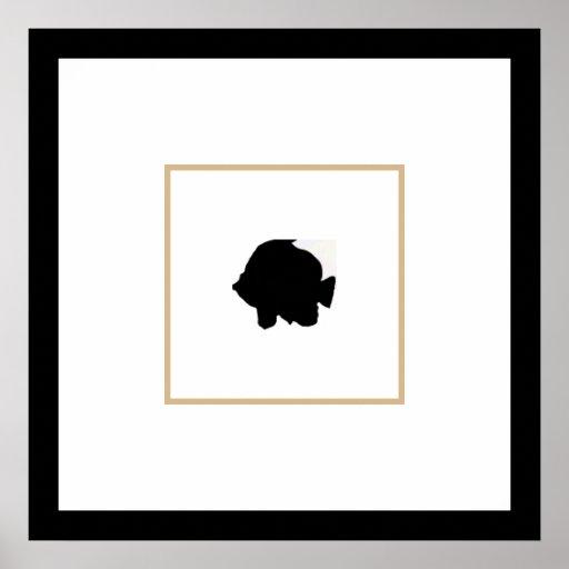 Poster decorativo do quadrado dos peixes da