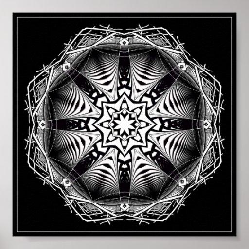 Poster decorativo preto e branco