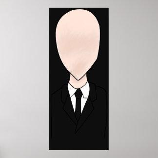 Poster delgado do homem