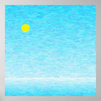 Póster Dia de sol em alto mar